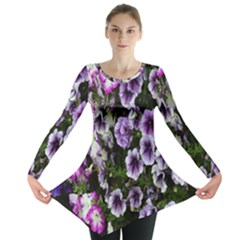 Flowers Blossom Bloom Plant Nature Long Sleeve Tunic