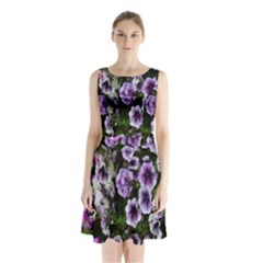 Flowers Blossom Bloom Plant Nature Sleeveless Chiffon Waist Tie Dress