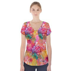 Here In Heaven Short Sleeve Front Detail Top