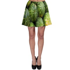Food Summer Pattern Green Watermelon Skater Skirt