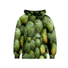 Food Summer Pattern Green Watermelon Kids  Pullover Hoodie