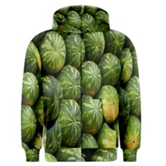 Food Summer Pattern Green Watermelon Men s Zipper Hoodie