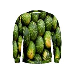 Food Summer Pattern Green Watermelon Kids  Sweatshirt
