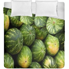 Food Summer Pattern Green Watermelon Duvet Cover Double Side (king Size)