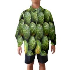 Food Summer Pattern Green Watermelon Wind Breaker (Kids)