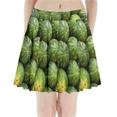 Food Summer Pattern Green Watermelon Pleated Mini Skirt