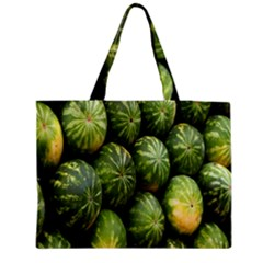Food Summer Pattern Green Watermelon Medium Zipper Tote Bag