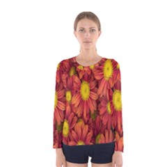 Flowers Nature Plants Autumn Affix Women s Long Sleeve Tee
