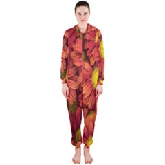 Flowers Nature Plants Autumn Affix Hooded Jumpsuit (ladies)