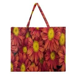 Flowers Nature Plants Autumn Affix Zipper Large Tote Bag