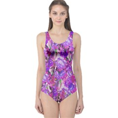 Flowers Abstract Digital Art One Piece Swimsuit