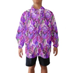 Flowers Abstract Digital Art Wind Breaker (Kids)