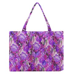 Flowers Abstract Digital Art Medium Zipper Tote Bag