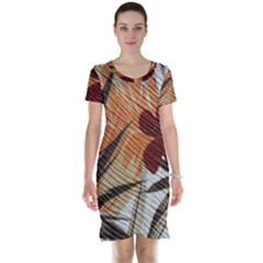 Fall Colors Short Sleeve Nightdress