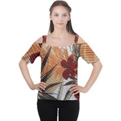 Fall Colors Women s Cutout Shoulder Tee