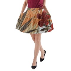 Fall Colors A-Line Pocket Skirt