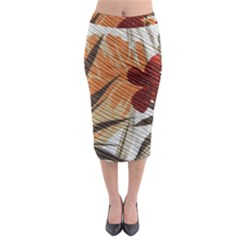 Fall Colors Midi Pencil Skirt