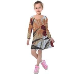 Fall Colors Kids  Long Sleeve Velvet Dress