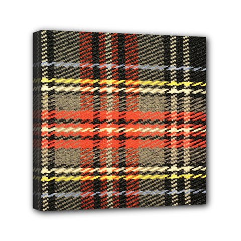 Fabric Texture Tartan Color Mini Canvas 6  x 6