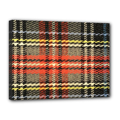 Fabric Texture Tartan Color Canvas 16  x 12