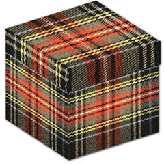 Fabric Texture Tartan Color Storage Stool 12