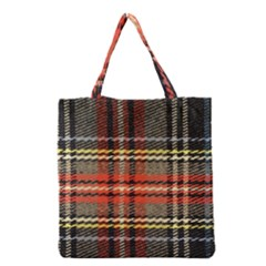 Fabric Texture Tartan Color Grocery Tote Bag