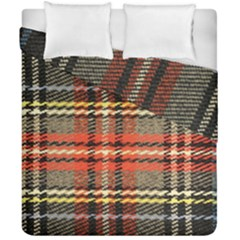 Fabric Texture Tartan Color Duvet Cover Double Side (california King Size)