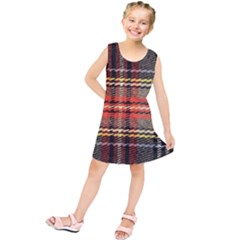 Fabric Texture Tartan Color Kids  Tunic Dress