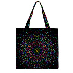 Fractal Texture Zipper Grocery Tote Bag