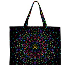 Fractal Texture Zipper Mini Tote Bag