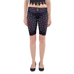 Fractal Texture Yoga Cropped Leggings