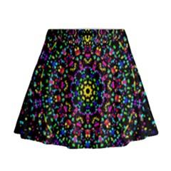 Fractal Texture Mini Flare Skirt