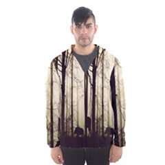 Forest Fog Hirsch Wild Boars Hooded Wind Breaker (Men)