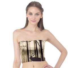 Forest Fog Hirsch Wild Boars Tube Top