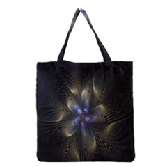 Fractal Blue Abstract Fractal Art Grocery Tote Bag