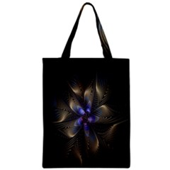 Fractal Blue Abstract Fractal Art Zipper Classic Tote Bag