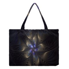 Fractal Blue Abstract Fractal Art Medium Tote Bag