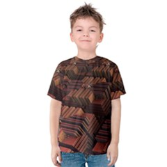 Fractal 3d Render Futuristic Kids  Cotton Tee