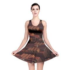 Fractal 3d Render Futuristic Reversible Skater Dress
