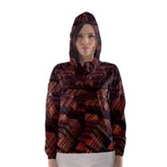 Fractal 3d Render Futuristic Hooded Wind Breaker (women)