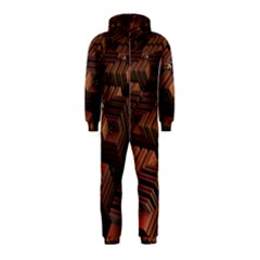 Fractal 3d Render Futuristic Hooded Jumpsuit (Kids)