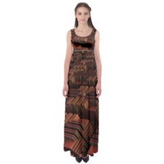 Fractal 3d Render Futuristic Empire Waist Maxi Dress