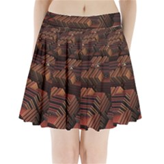 Fractal 3d Render Futuristic Pleated Mini Skirt