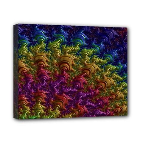 Fractal Art Design Colorful Canvas 10  x 8
