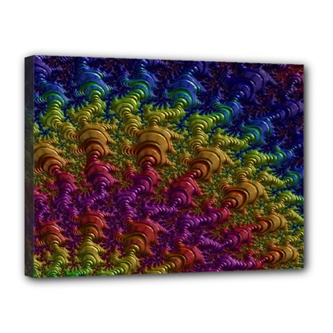 Fractal Art Design Colorful Canvas 16  X 12
