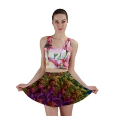 Fractal Art Design Colorful Mini Skirt