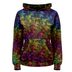 Fractal Art Design Colorful Women s Pullover Hoodie