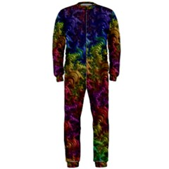 Fractal Art Design Colorful OnePiece Jumpsuit (Men)