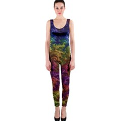 Fractal Art Design Colorful OnePiece Catsuit