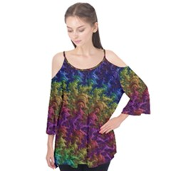 Fractal Art Design Colorful Flutter Tees